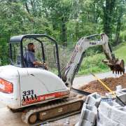 Building a retaining wall in Asheville